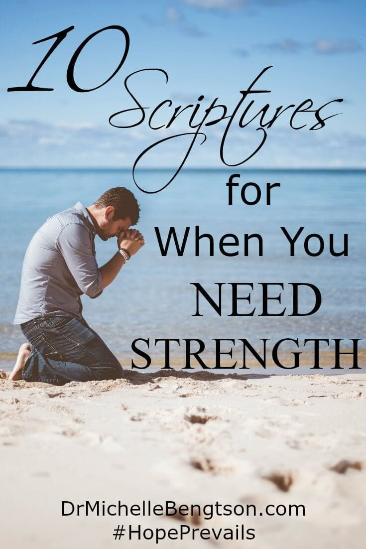 I don't know how people carry on during life's most difficult trials without God. These ten scriptures on strength are my favorites to rely on when I need strength. #Bible #strength