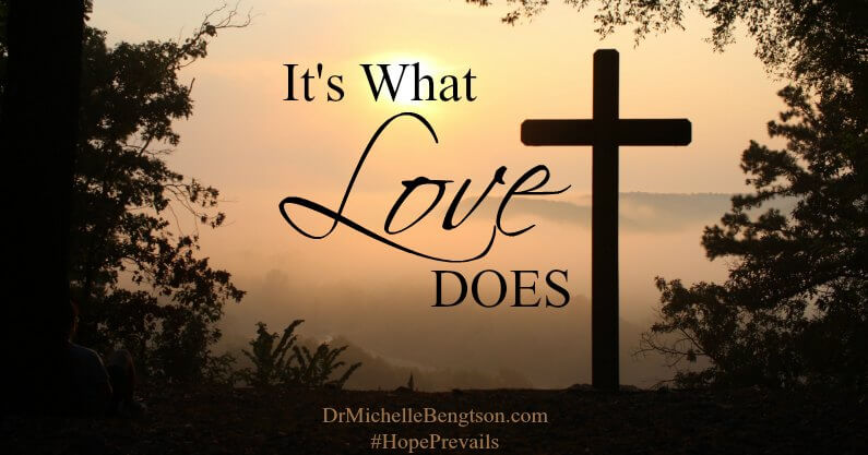 Jesus endured pain and torture to shed His blood for us on the cross. A willing sacrifice and His gift to us. It's what love does. Do you know His love?
