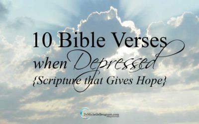10 Bible Verses When Depressed