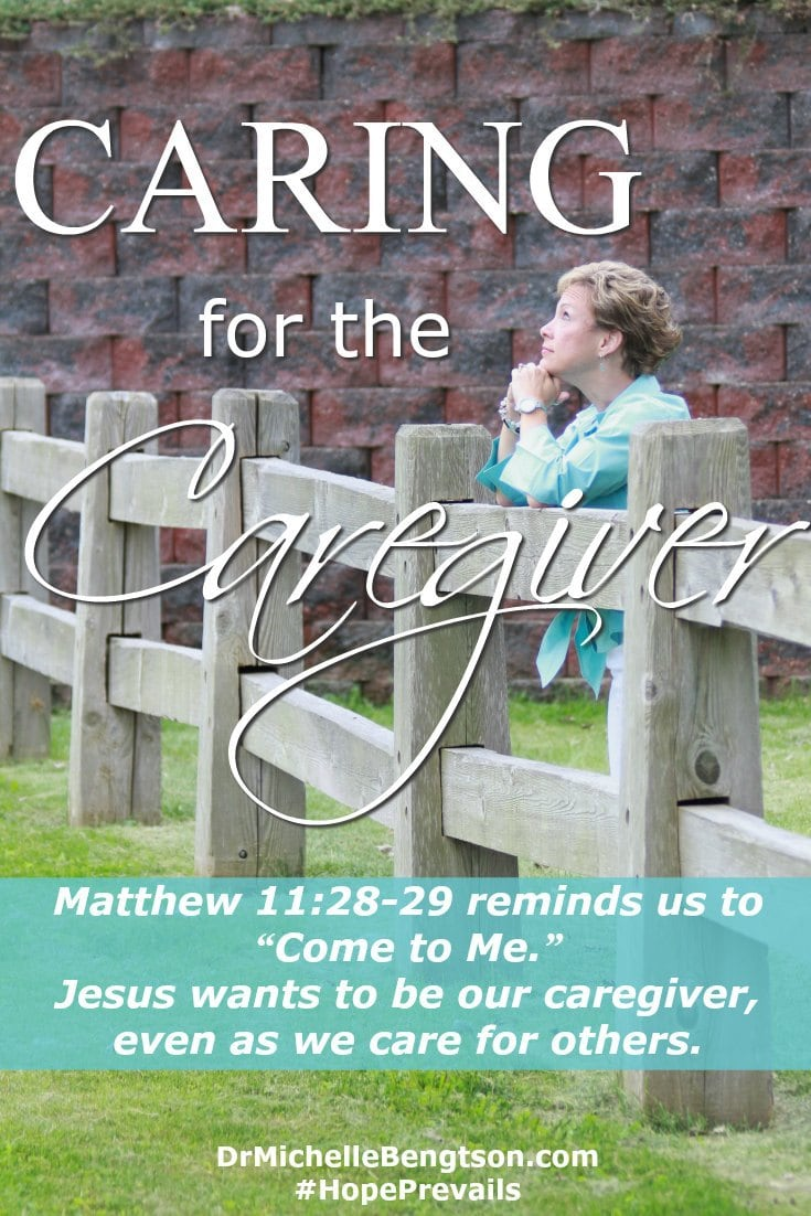 A person caring for a loved one may neglect their own needs. The hardest parts of being the caregiver, at least for me, have been knowing when to stop and rest, when to ask God and others for help, and recognizing we weren't meant to carry it all.