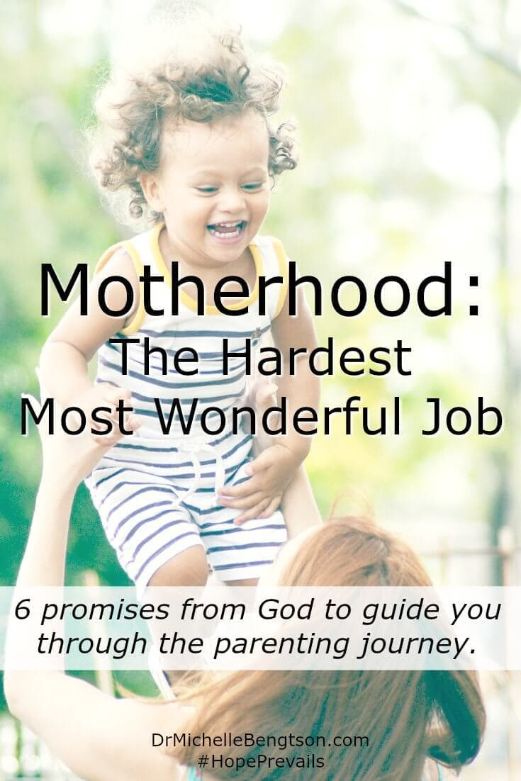 Motherhood is the hardest job and most wonderful job at the same time. On those days you need encouragement remember these 6 promises from God as you walk the parenting journey.