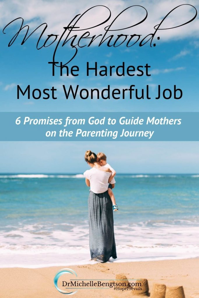 Are you tired? Weary? Wondering if you can do this mothering thing? Wondering why God chose you for motherhood, the hardest job (and most wonderful job at the same time)? On the days when you need encouragement, remember these 6 promises from God to guide you on the parenting journey. #motherhood #hope #faith #parentingtips