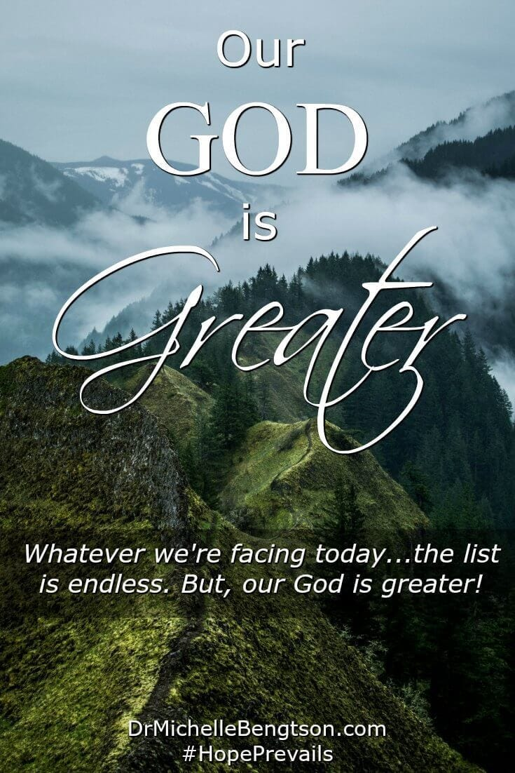 We are all facing an endless list of trials. But, our God is greater. We can strive in our own might or surrender to Him. We can choose the stress of trying to do it all or surrender it all to God. What will you choose?