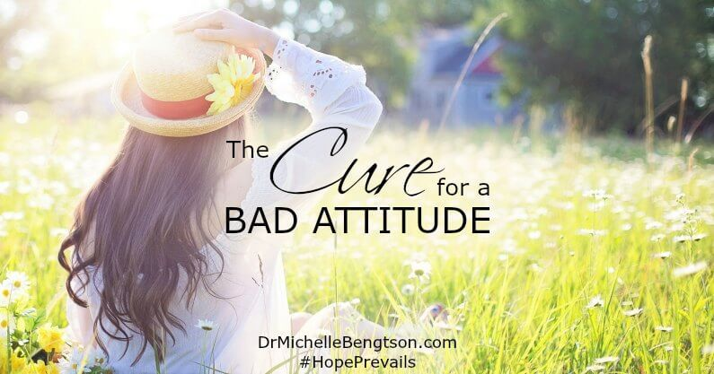 Gratitude is the cure for a bad attitude because it changes your focus to God and what really matters.