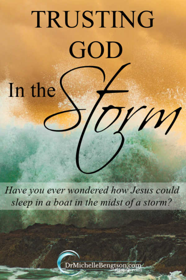 This wasn't the first major storm I'd faced, and it wouldn't be the last. Jesus warned we'd face trials. But He also gave us hope. Read more for how I learned to trust God in the storm and trust Him to be my peace. #faith #Christianity