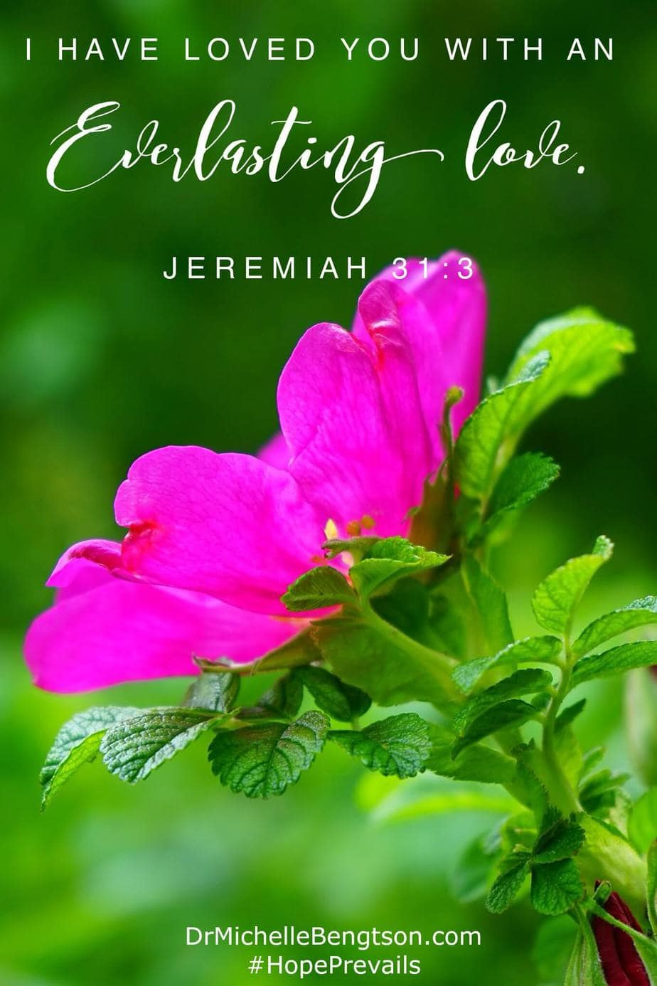 God is a good, good Father. He is kind and He loves us with an everlasting love. Jeremiah 31:3