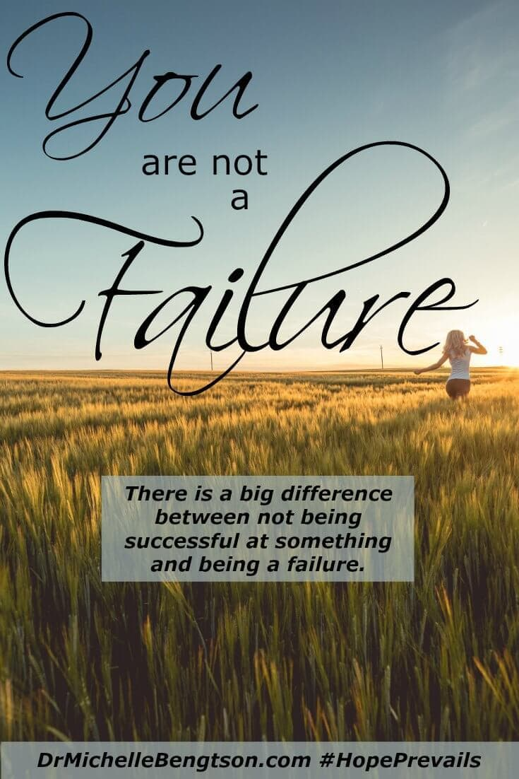 Have you ever confused failing at something with being a failure? There's a big difference. The enemy wants you to believe you are a failure, but that's not how God sees you.