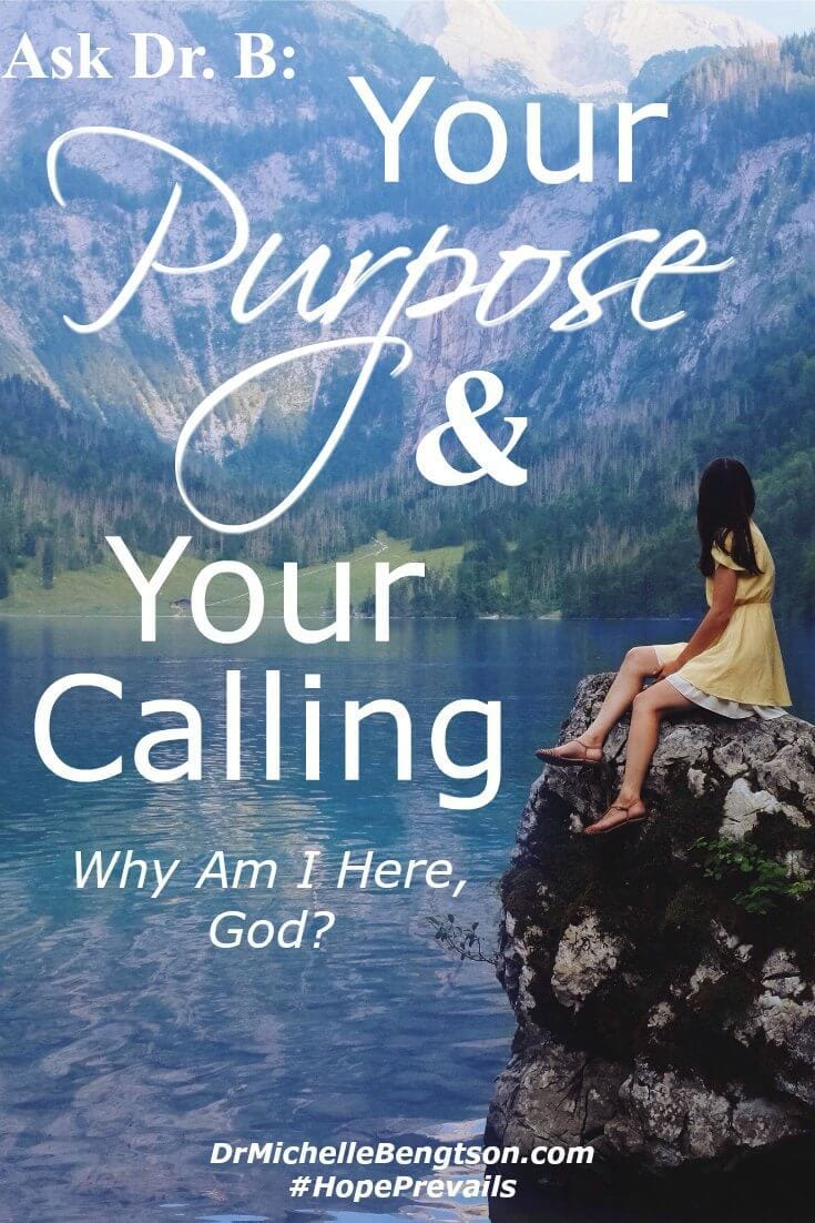 """What is my purpose? Why am I here?"" Have you ever wondered about your purpose? We are each uniquely made with individual callings. God gave each of us special gifts that only we can fulfill. Our lives have purpose!"