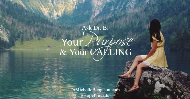 "I'm often asked, ""What is my purpose? Why am I here?"" God created each of us uniquely and gave us an individual calling. Each of us with our different parts are necessary so the whole of us works optimally, together."