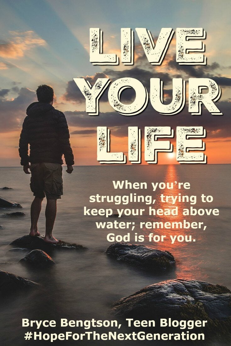 When things are tough, keep going. Never give up. God is for you. Even when you're struggling and overwhelmed, lay back and let God take over.