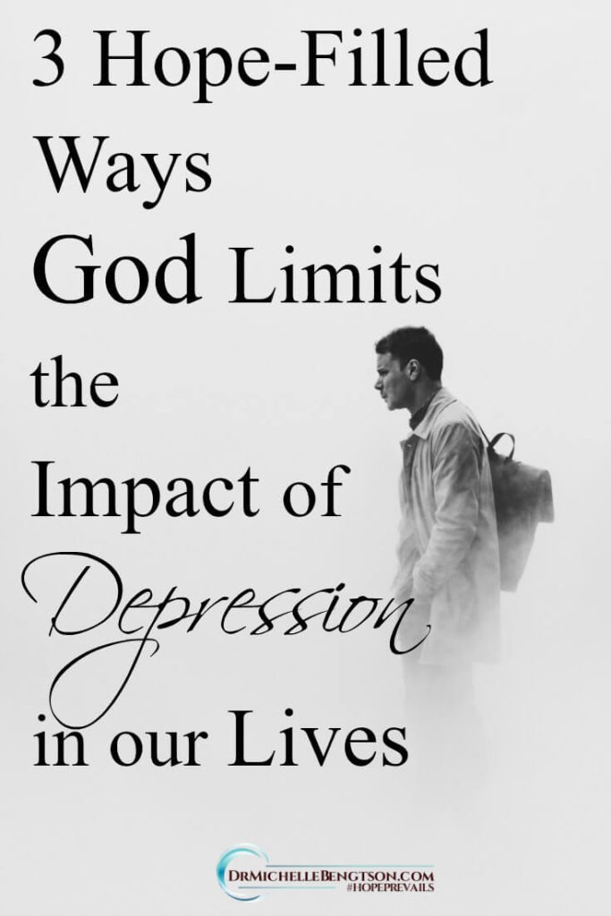 Neither the enemy of our soul, nor depression can determine our worth, dictate our destiny, or separate us from the love of God! We are so loved. Read more for ways God limits the impact of depression in our lives.