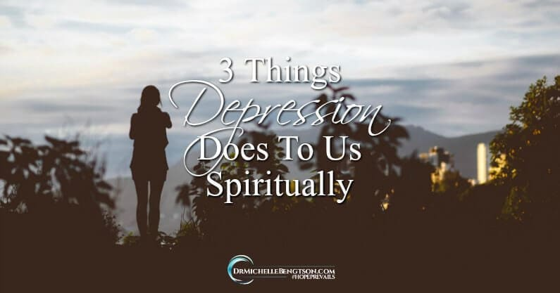 In order to journey through the valley of depression and make it to the other side, we must address its spiritual components. Read more for three things depression does to us spiritually.