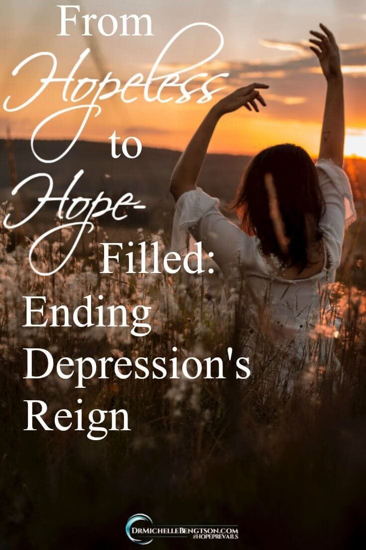 How do you move from hopeless to hope-filled? Healing from depression is hard work. Do you know where walking in victory over depression begins? Learn more here.