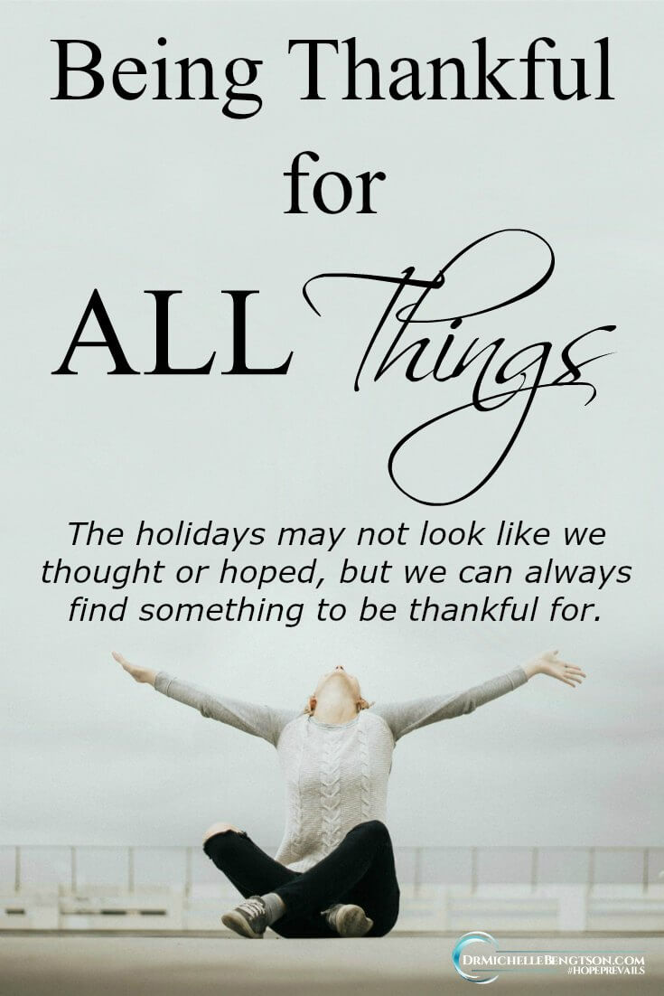 e always have something to be thankful to God for. This year has been one full of doctor appointments and cancer treatments. I'm grateful for the experiences because of the reminder of the not so little things I have to be thankful for.