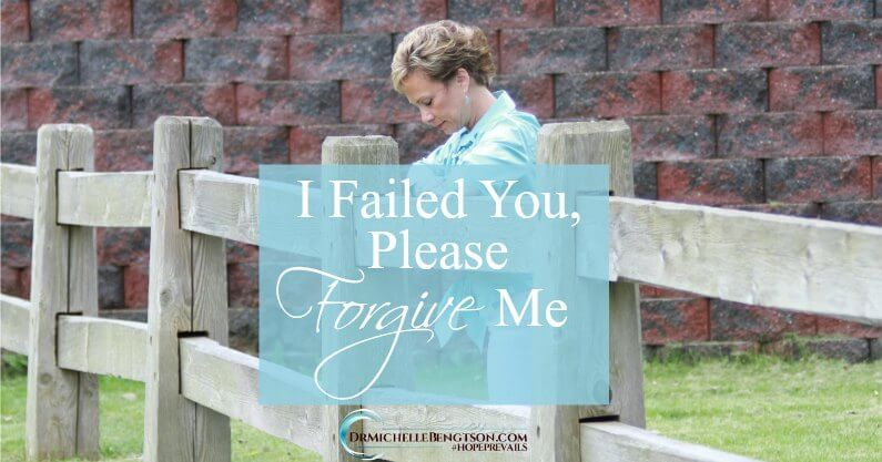 I feel the need to ask your forgiveness. As a neuropsychologist with almost 25 years of professional experience in the medical and mental health fields, and as a Christian and a leader in the church, I feel we have failed.