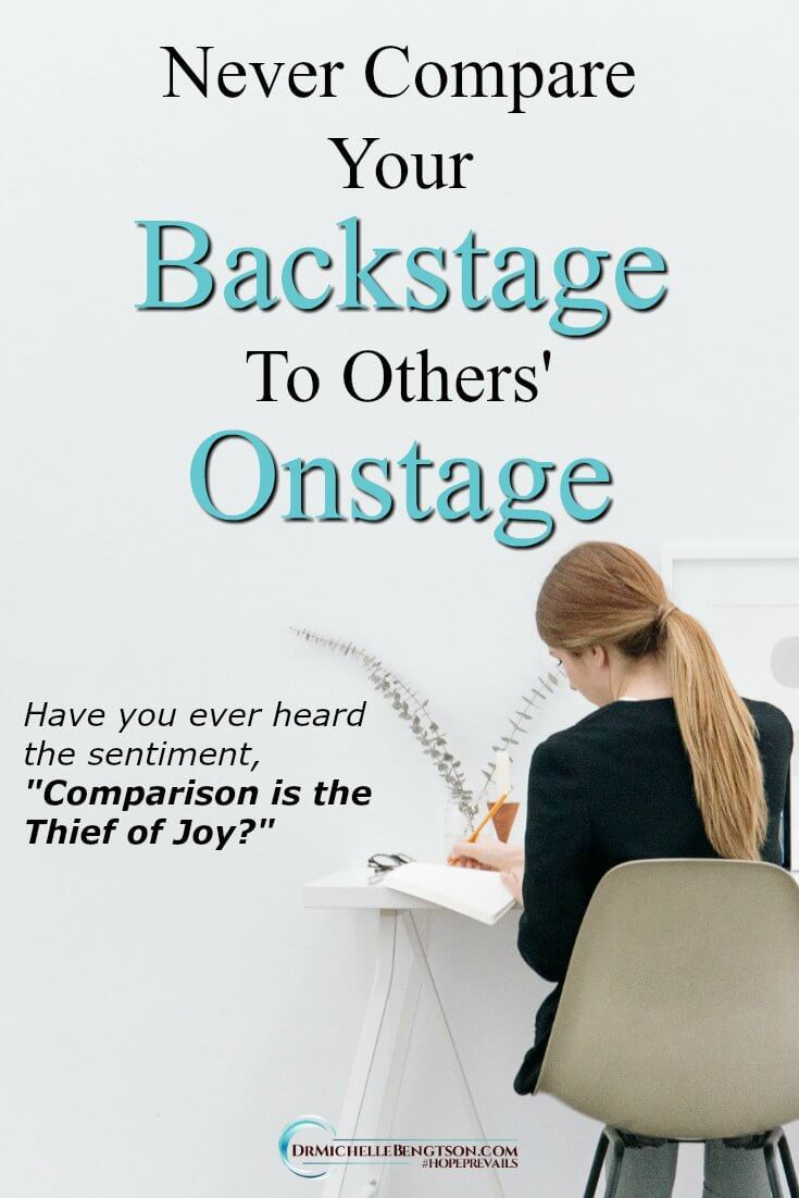 When we compare ourselves to other people and where they are and what they are doing, it robs us of the joy of where God has us now. Your current backstage experience is preparing you for your ultimate onstage presentation. Read more for following God's lead.