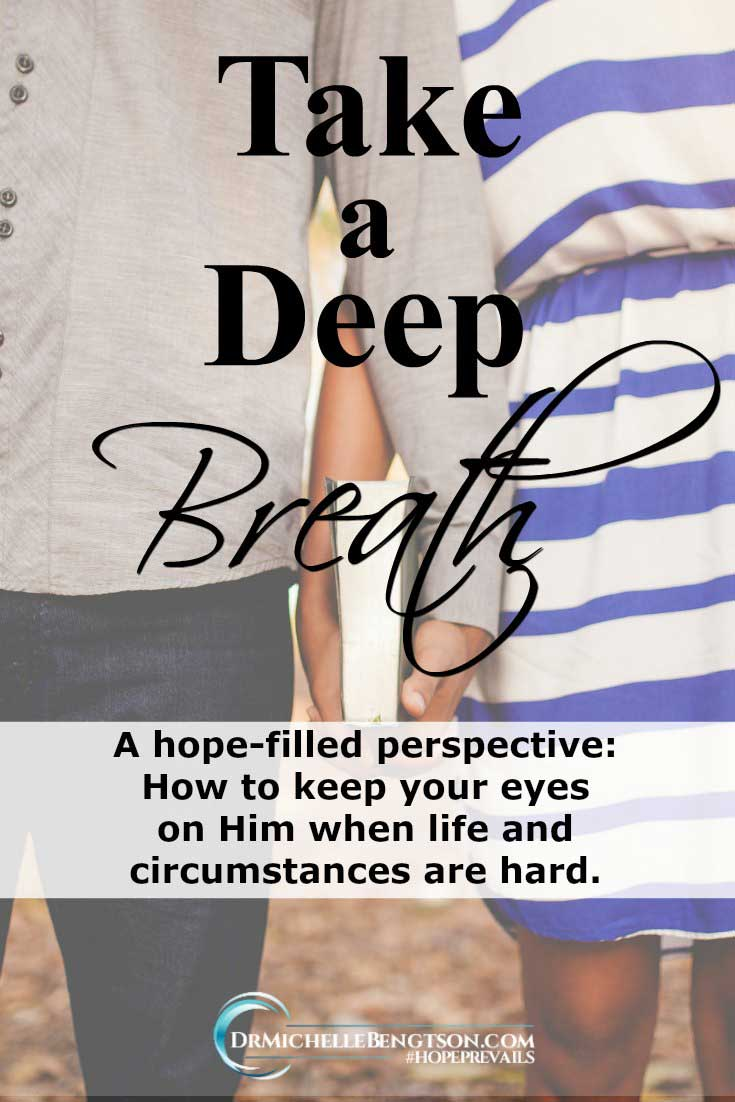 Breathe. When life is hard, do you forget to take a deep breath?  A hope-filled perspective to seek God as the source of peace in the midst of the storms.