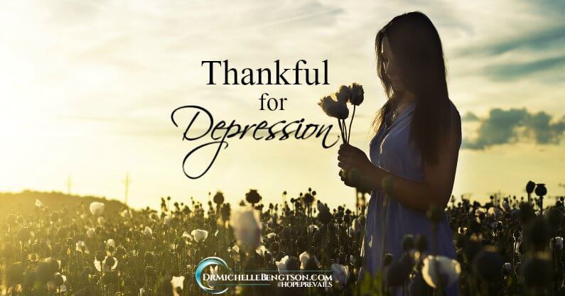Thankful for depression. I almost choked, as the tears stung my throat just writing those words. Thinking back on those dark days and realizing how far I've come brings a well of emotion from sadness to great joy and gratitude.