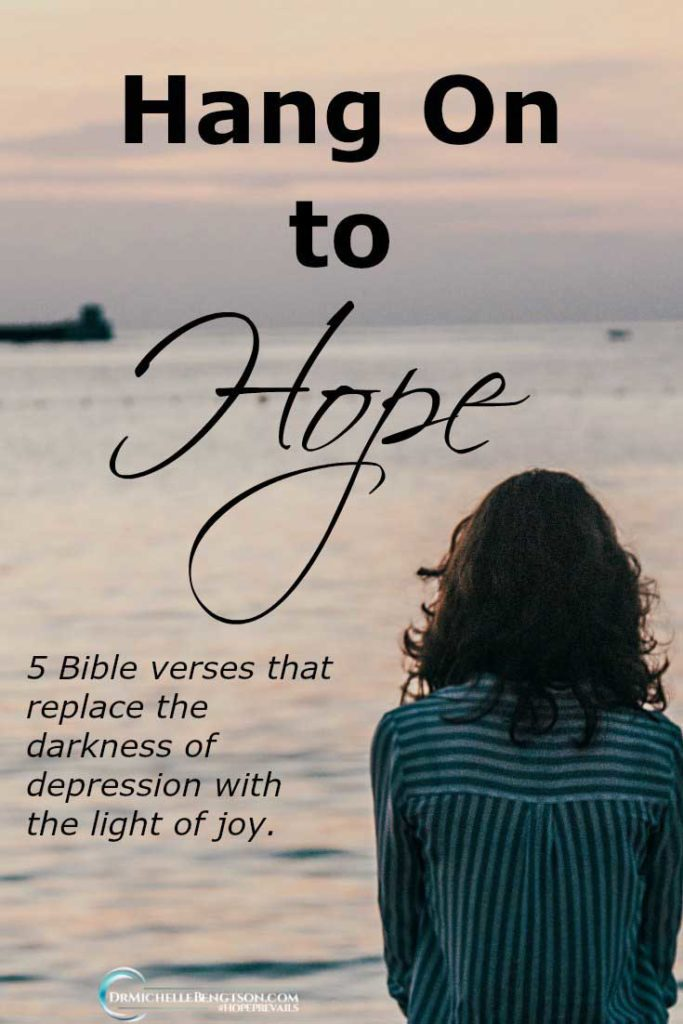 over depression. Use these 5 verses from God's word to replace darkness with the light of joy. #Bibleverses #depression #mentalhealth