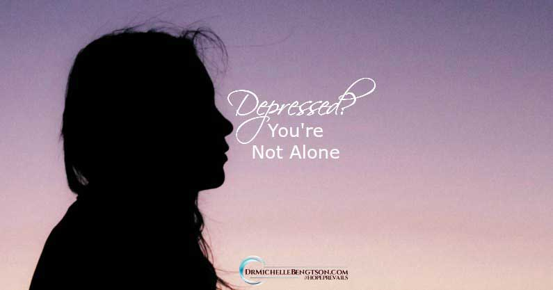When you're suffering with depression, you may feel alone, helpless, hopeless and as if no one understands. I've been there and I understand. Read more for hope for depression.