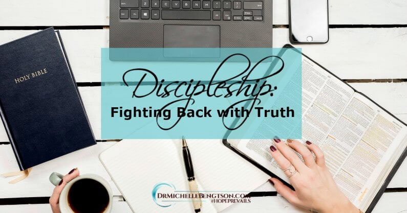 Because of a prayer from my mentor and her discipleship, I discovered that I could use the truth of God's Word to fight back against depression.
