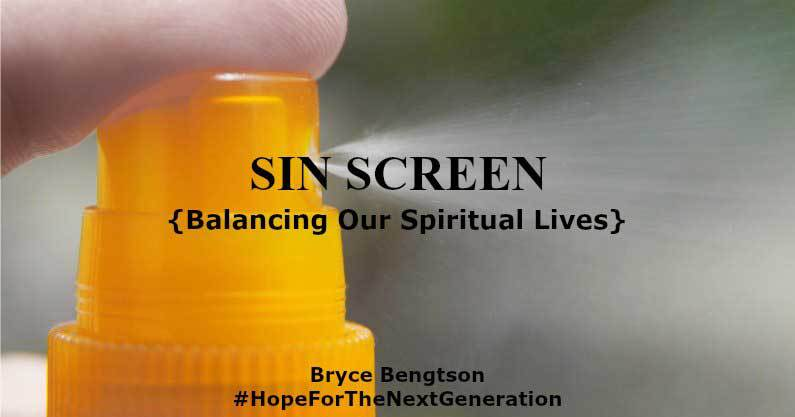"Sunscreen is a lot like ""sin screen."" Too much or too little in our spiritual lives can hurt you. Moderation is needed."
