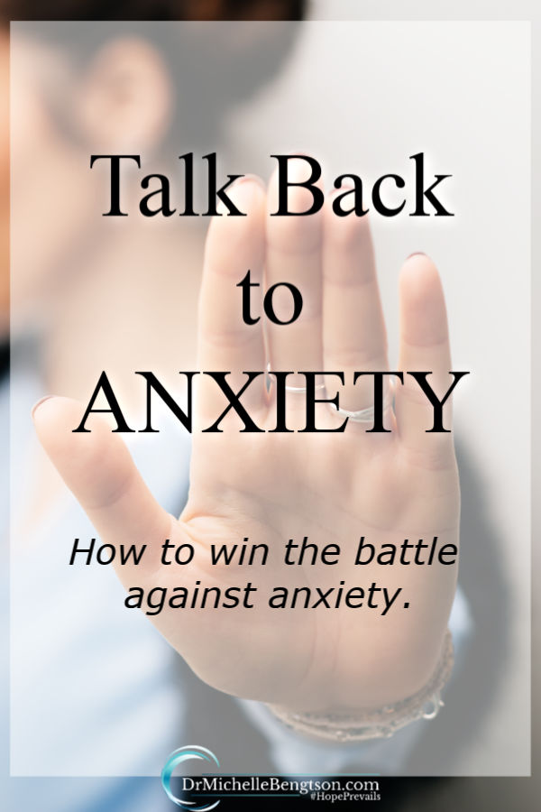 Fear, worry, and anxiety are stumbling blocks from the enemy intended to make us take our eyes off God. If you're battling anxiety, be encouraged. There is a pathway to peace. Read more for ways to talk back and win the battle against anxiety. #Bible #mentalhealth #faith #anxiety