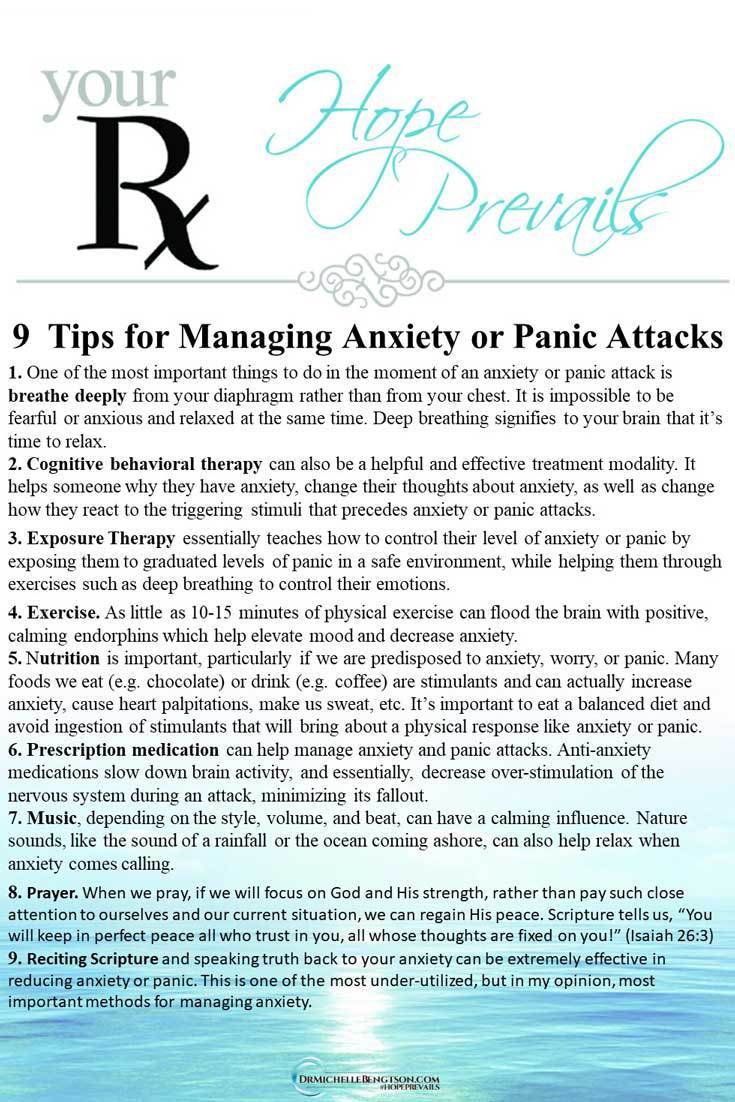 Whether you're dealing with anxiety attacks, persistent anxiety, or panic attacks, help is available. Here are 9 tips for managing anxiety or panic attacks. #panicattack #anxiety #mentalhealth