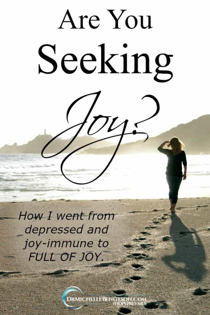 There was a time when I was depressed and believed I was joy-immune. But, when I dealt with the spiritual roots of depression that I found true help, hope, and healing. And, JOY. Read more for how I overcame. #depression #mentalhealth