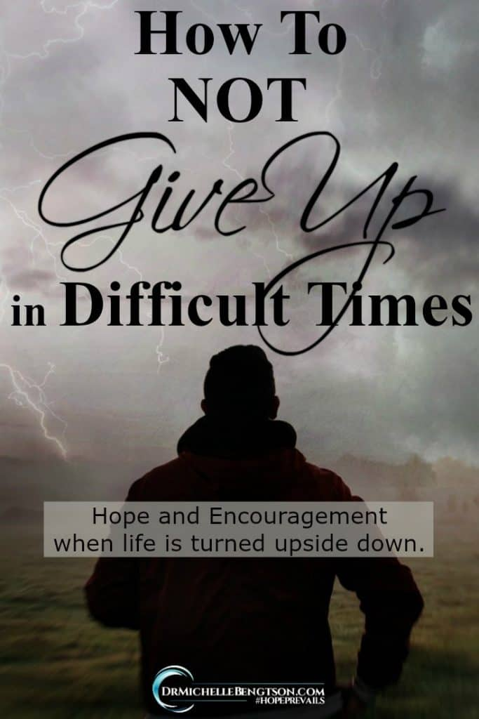 Are you facing circumstances that have turned your life upside down and sideways? Don't give up! There is hope! #encouragement #faith #hope
