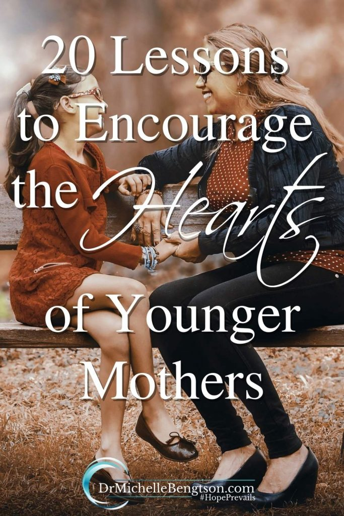 Motherhood is the hardest and most rewarding job there is. As I've grown as a mother, I've learned. I'm sharing words of wisdom that will encourage the hearts of younger mothers. #encouragement #motherhood #hope #faith