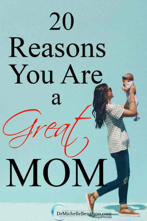 Motherhood is one of the hardest jobs there is. God knew you were an amazing mom and He chose you for such a time as this to mother the children He gave you. Read more for 20 reasons you are a great mom.