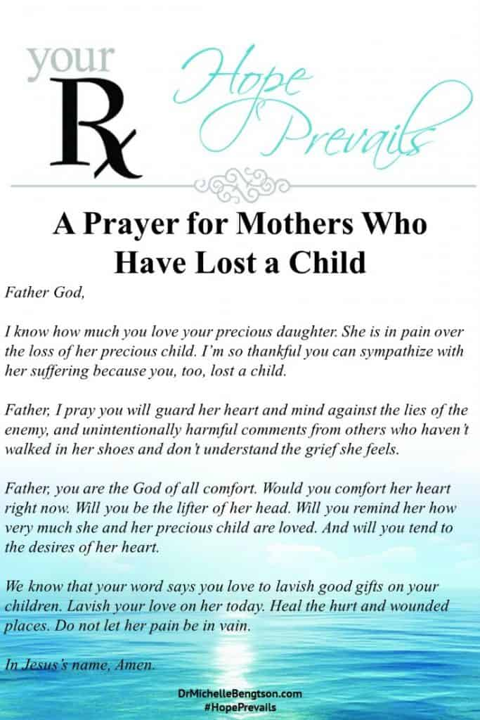 A prayer for mothers who have lost a child through miscarriage. #prayer #grief #God #miscarriage