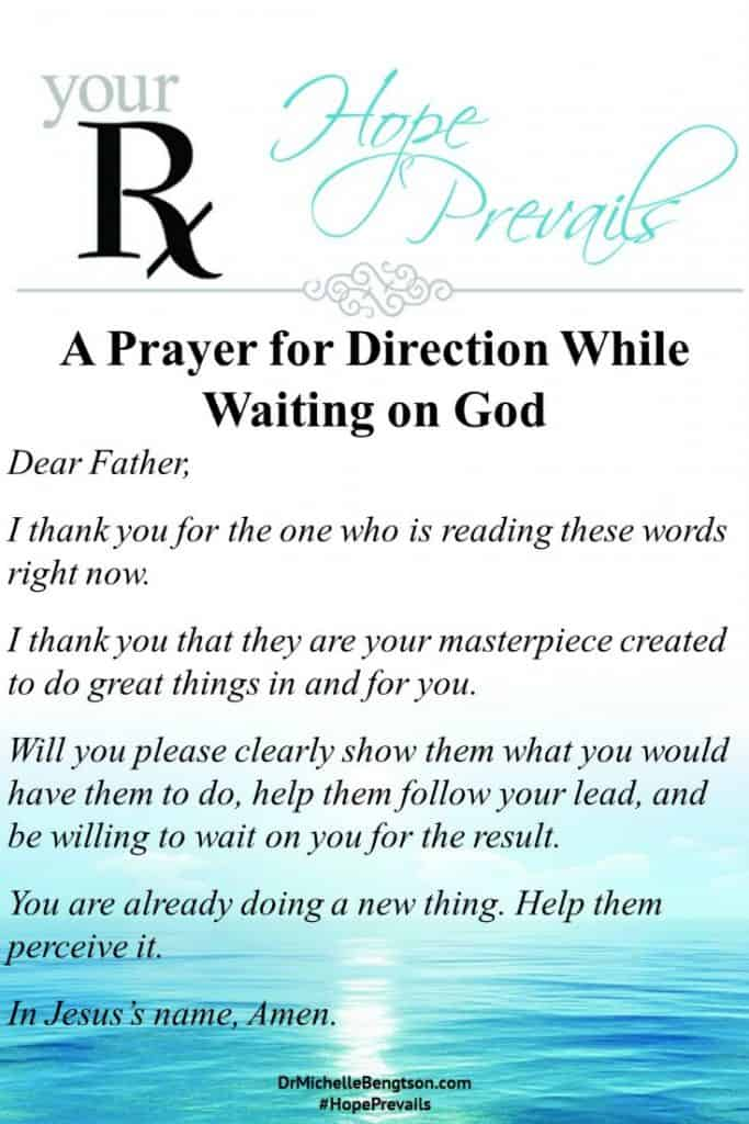 A prayer for direction while you are waiting on God. #prayer #Christianity