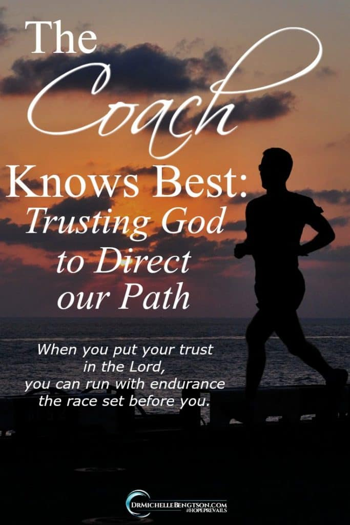 God knows what's best for us. We can't see the end of the race we're running, but God can. #Christianity #trustingGod #ChristianLiving