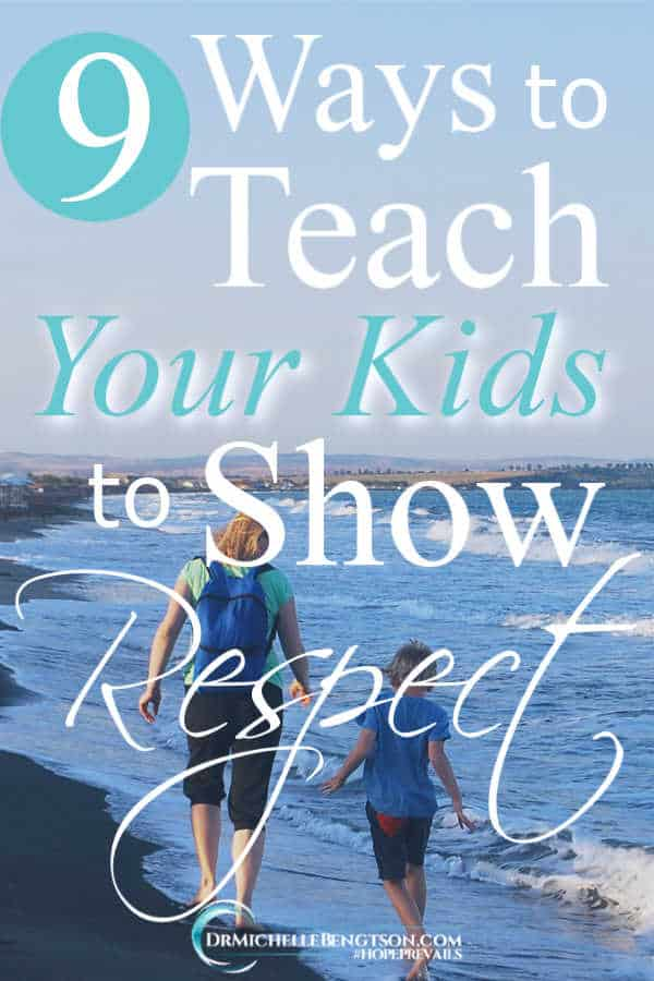 Teaching your kids to show respect to others is Biblical. I've used these 9 ways to teach my children to show respect. #Christianity #encouragement #parenting