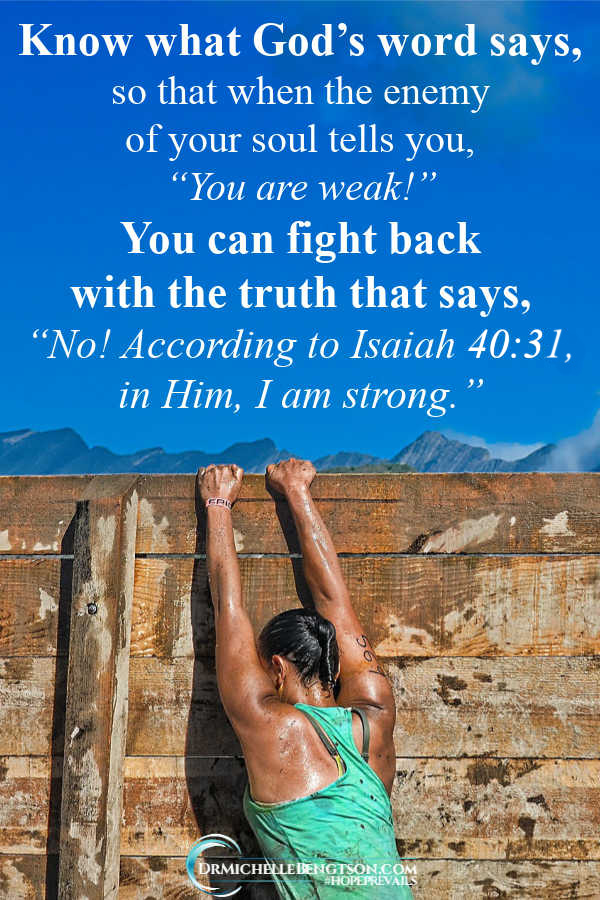 Know what God's Word says so you can fight the enemy with truth. You are more than a conqueror! #BibleVerses #Christianity #SpiritualWarfare