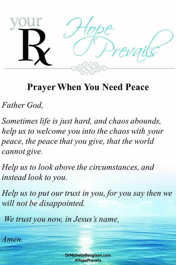 A prayer for God to help us trust Him more and give us peace. The best place to find God's peace is in the Bible and His presence so read through for 15 top Bible Verses for peace. #prayer #peace #Christianity