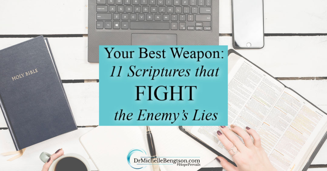 Use these 11 scriptures that fight the enemy's lies to take control of your thought life.