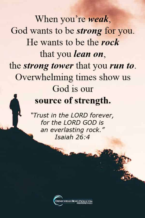 The times that overwhelm us show us that God is our source of strength. #Christian #Christianity