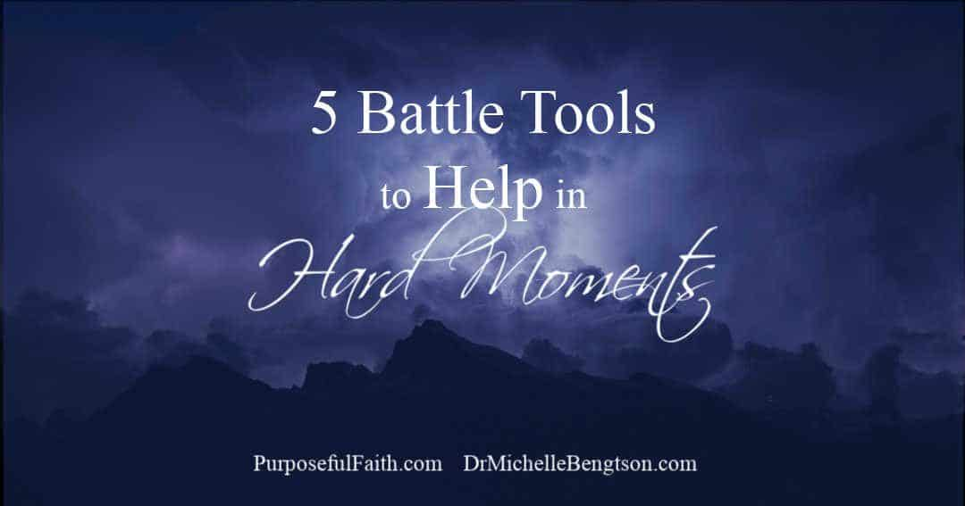Use five battle tools to help in hard moments and make room for the victory the Lord will bring. Real wisdom is having a battle plan.