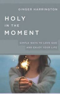Holy in the Moment by Ginger Harrington, a book on growing in holiness.