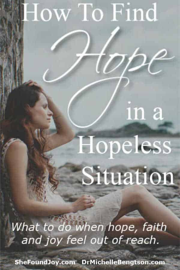 Have you ever felt hopeless? Have you ever longed for joy, but it seemed just beyond your grasp? You can recover your hope. #hope #depression #anxiety #Christianity
