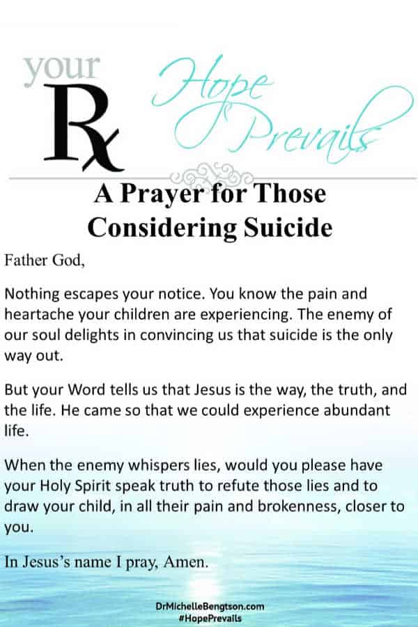 A prayer for those considering suicide. #hope #mentalhealth #suicide