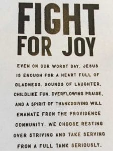 Some days we have to fight harder for joy.