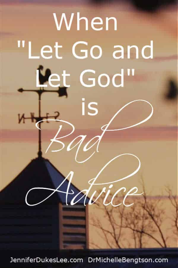 "It sounds good to say ""let go and let God"" as a sign of surrender. But, what if you've gotta hang on for dear life? #faith #hope"