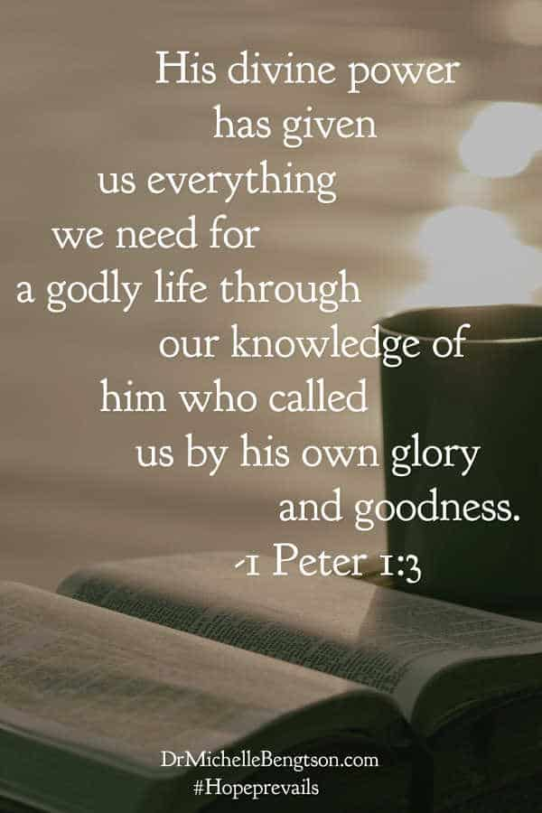 The truth of God's word explains that God has already given us everything we need for life and Godliness. 2 Peter 1:3 #BibleVerse #scripture #encouragement