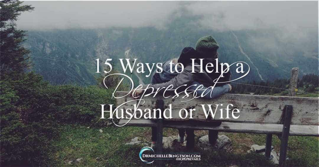 It can be challenging to know different ways to help a depressed husband or wife.