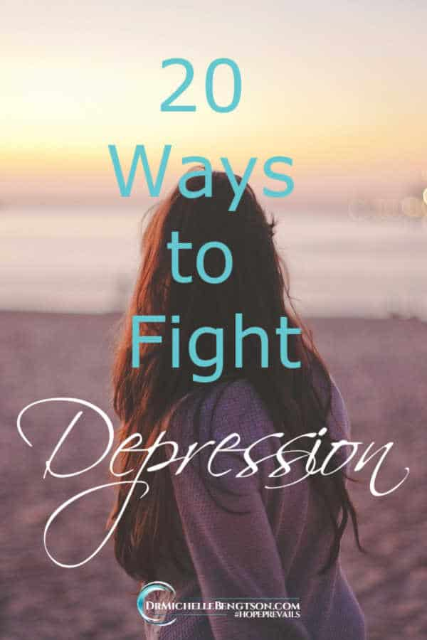When I became desperate, I was able to make small daily choices that helped me overcome and fight depression. #depression #mentalhealth #hope