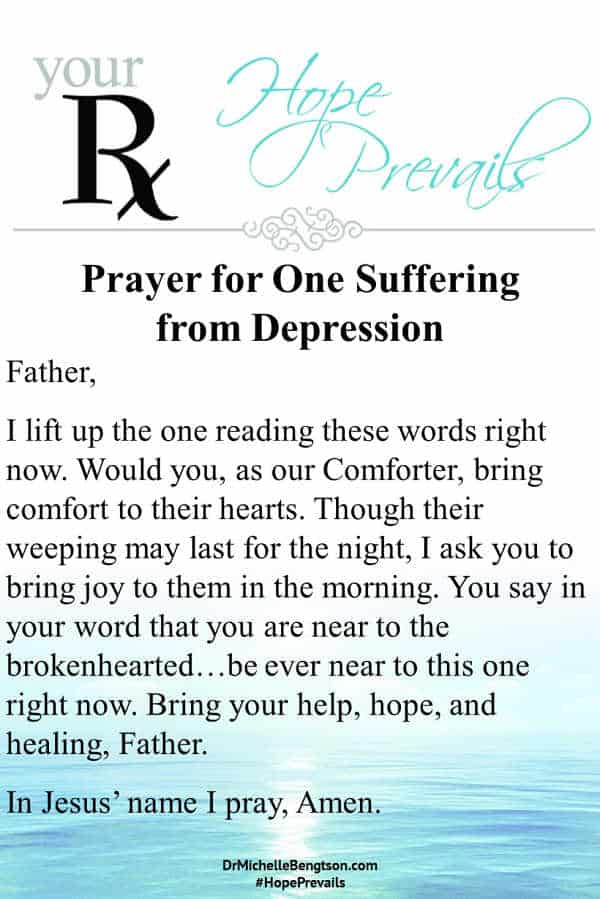 Prayer for one suffering from depression. #depression #mentalhealth #prayer